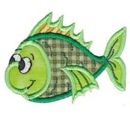 Here Fishy Applique 4