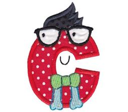 Hipster Boys Alpha Applique C