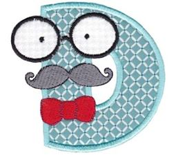 Hipster Boys Alpha Applique D