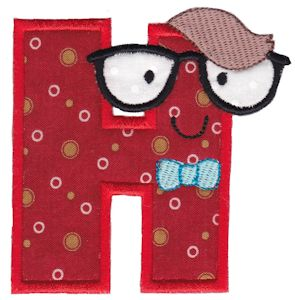 Applique Embroidery Designs Hipster Boys Alpha Applique