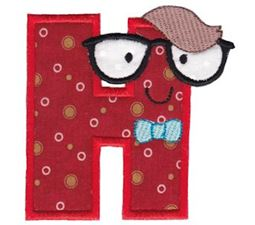 Hipster Boys Alpha Applique H
