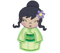 Kokeshi Dolls Applique 5