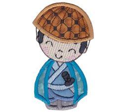 Kokeshi Dolls Boys Applique 11