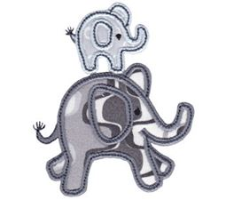Little Elephant Applique 16