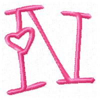 n alphabet in love  Embroidery | Design...