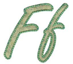 Lovely Applique Alphabet f
