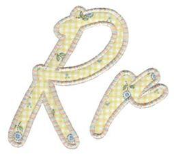 Lovely Applique Alphabet r