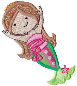 Magical Mermaids Applique 9