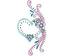 Mehndi Hearts 9 5x7 6x10