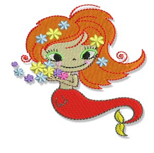Free Mermaid Embroidery - Free Embroidery Patterns