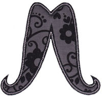 Moustache Applique
