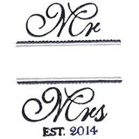 Embroidery Design Set - Mr and Mrs