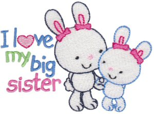 Machine Embroidery Designs My Brother My Sister