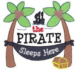 The Pirate Sleeps Here