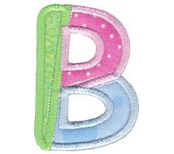 Patches Alphabet Applique B