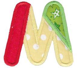 Patches Alphabet Applique M