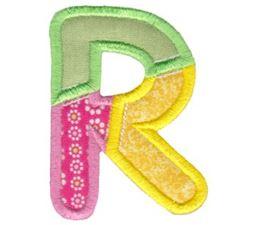 Patches Alphabet Applique R