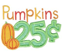 Pumpkins 25c Applique