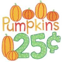 Embroidery Design Set - Pumpkin Patch Sentiments
