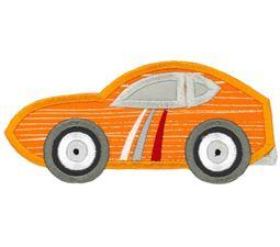 Race Cars Applique 4 5x7