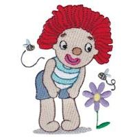 Embroidery Design Set - Rag Doll Clowns