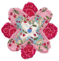 Raggedy Flowers Applique