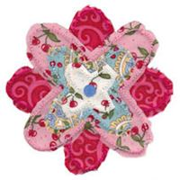 Embroidery Design Set - Raggedy Flowers Applique