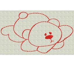 Redwork Bears 12