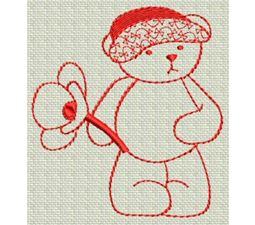Redwork Bears 6