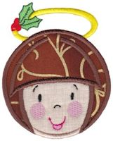 Round Christmas Applique