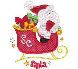 Santas Sleigh Applique 5x7 10