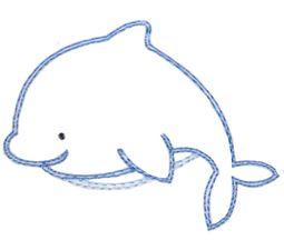 Dolphin Vintage Stitch