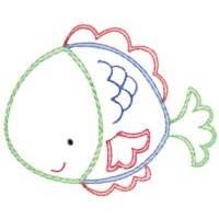 Sea Creatures Vintage Stitch