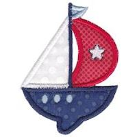 Embroidery Design Set - Set Sail Applique