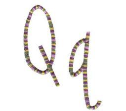 Slender Alphabet q