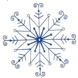 Embroidery Design Set - Snowflakes 7