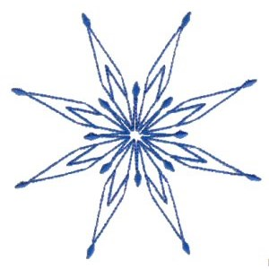 Embroidery Design Set - Snowflakes 8