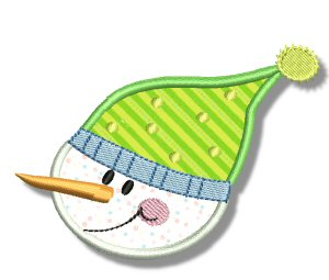 Snowman Soup Applique 3