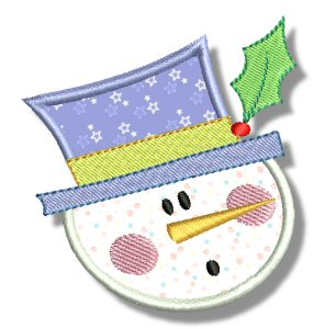 Snowman Soup Applique 4
