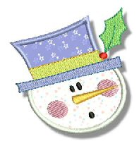 Snowman Soup Applique