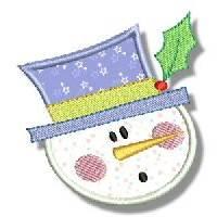 Snowman Soup Applique