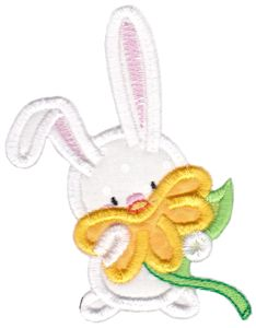 Snuggle Bunny Applique 6
