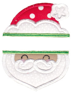 Split Christmas Applique 1