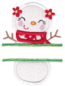 Split Christmas Applique 10
