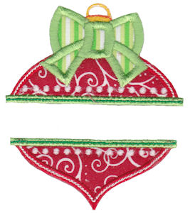 Split Christmas Applique 12