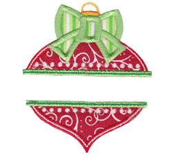 Split Christmas Applique 12