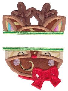 Split Christmas Applique 2