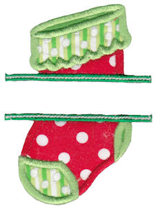 Split Christmas Applique 3