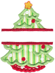 Split Christmas Applique 6