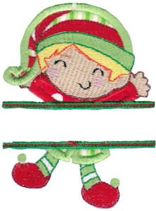 Split Christmas Applique 8